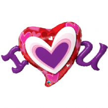 I (Heart) U Large Foil Balloon 1pc